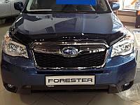 Дефлектор капота, мухобойка Subaru Forester 2013- Субару Форестер