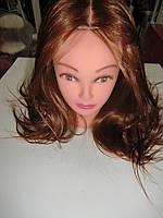 Болванка искусственная (парикмахерская учебная голова) медный рыжий