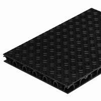 """Панель полимерная """"пластик"""" x15110s. Чёрная. Повышенной прочности, толщина 11 мм. 2300мм*1600мм. Вес 13 кг."""
