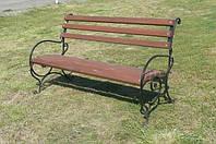 Кованая садовая или уличная скамейка