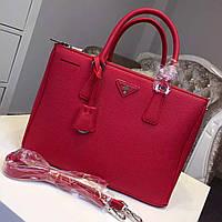 Женская кожаная сумка Prada Litchi Grain