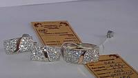 Комплект Нежность из серебра 925 пробы с золотыми вставками 375 пробы