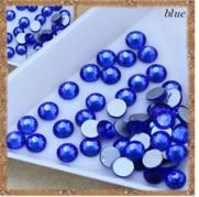 Стразы ,стекло ( аналог Swarovski) SS3 - 1.2мм, синие ,100 шт.
