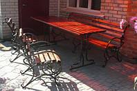 Садовый комплект 1,5м. стол, скамья и кресла