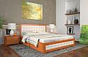 Ліжко двоспальне з натурального дерева в спальню Рената Д з Підйомником (Сосна, Бук) Арбор Древ, фото 3