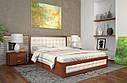 Ліжко двоспальне з натурального дерева в спальню Рената Д з Підйомником (Сосна, Бук) Арбор Древ, фото 6