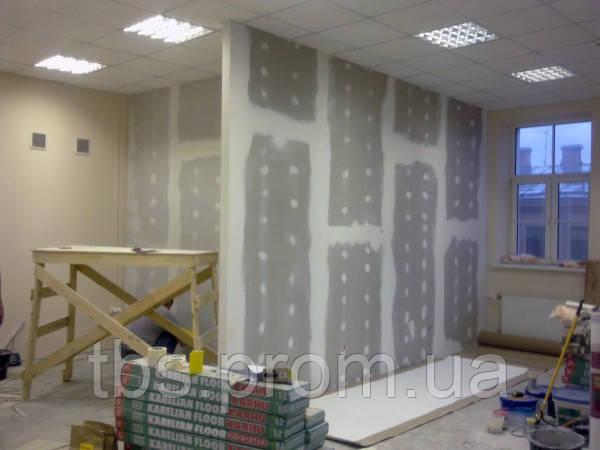 Установка перегородки из гипсокартона с дверью - GROUP-TB.COM.UA в Киеве
