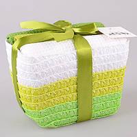 Набор кухонных полотенец  40Х60 см 3 шт зеленые тона в подарочной упаковке 825-007