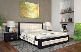 Ліжко двоспальне з натурального дерева в спальню з підйомником Рената М Арбор Древ