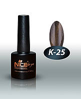 """Гель-лаки для ногтей """" Кошачий глаз"""" Nice For You, № К-25, 8,5 мл"""