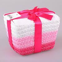 Набор кухонных полотенец  40Х60 см 3 шт розовые тона в подарочной упаковке 825-006