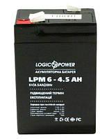 Аккумулятор свинцовый Logicpower 6V - 4, 5 Ah LPM 645