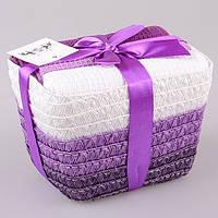 Набор кухонных полотенец  40Х60 см 3 шт фиолетовые тона в подарочной упаковке 825-008