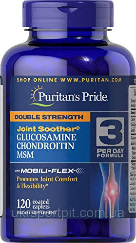Puritans Pride Double Strength Glucosamine Chondroitin & MSM 120 Tabs