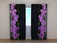 Фотоштора Орхидеи на чёрном