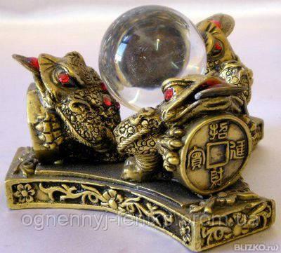 3 лягушки с шаром - мощный талисман для привлечения богатства и материального благополучия - Огненный Феникс в Одессе