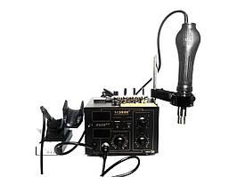 Паяльная станция Saike 852D ++ 2 в 1 с держателем фена