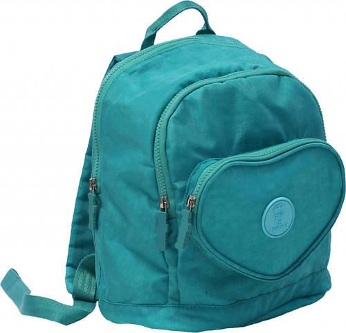 Симпатичный рюкзак Heart 9 л Bagland 16376 бирюзовый