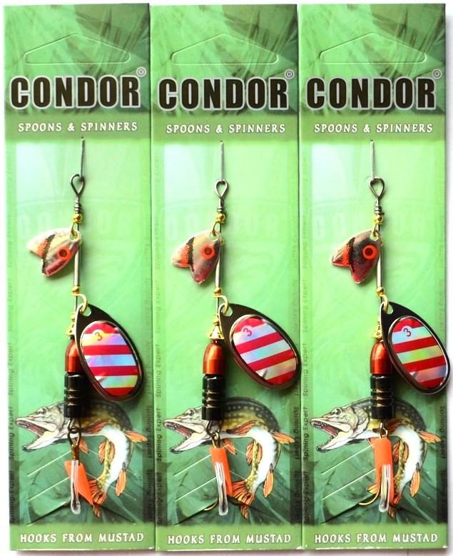Блесна-вертушка двойная Кондор, цвет 118, 12гр