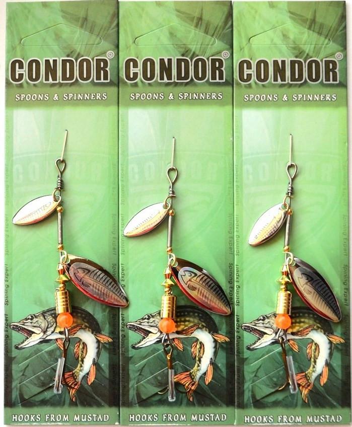 Вращающаяся блесна двойная Кондор, цвет 136, 6гр