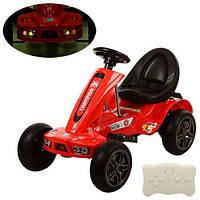 Детский Электромобиль Карт M 1558 ER-3, EVA колеса, красный