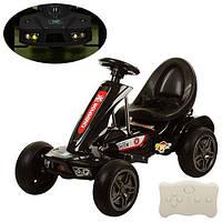 Детский Электромобиль Карт M 1558 ER-2, EVA колеса, черный