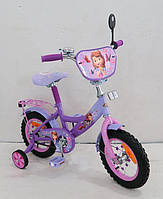 "Велосипед 2-х колес 14'' 161401 ""Принцесса София"" со звонком, зеркалом"