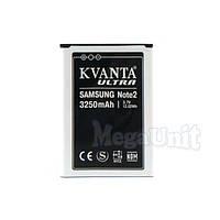 Усиленный аккумулятор KVANTA. Samsung Galaxy Note 2 (n7100) 3250мАч