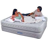 Велюр кровать Intex 66962 со встроенным насосом 220В, 152-203-51 см KHT
