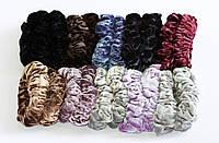 Резинка для волос велюр хамелеон шарпей большая, 12 штук в упаковке