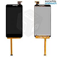 Дисплейный модуль (дисплей + сенсор) для Alcatel One Touch 6030 Idol, черный, оригинал