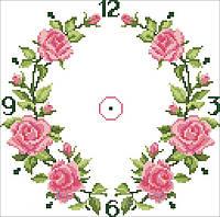 Заготовка для вышивки часов Розовые розы