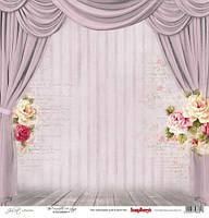 Бумага для скрапбукинга, Джульетта - Сцена, односторонняя, 30,5х30,5см, 180г/м
