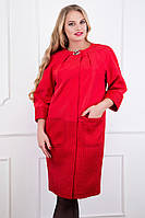 Женский модный красный плащ больших размеров (рр 52-64), разные цвета