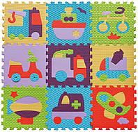 Детский игровой коврик-пазл «Быстрый транспорт» GB-M129V2 /Ю