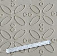 Скалка EM8958 текстурная для мастики прозрачная  Д=29мм L= 290мм Empire  (Empire Эмпаир Емпаєр) 