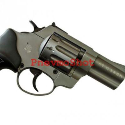 Револьвер под патрон Флобера Stalker 2.5 сталь черный