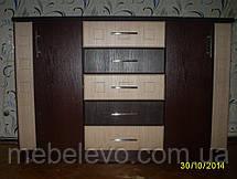 Комод София  900х1330х430мм венге темный + венге светлый   Мебель-Сервис, фото 3