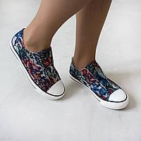 Кеды Woman's heel 37 синие маломерные (О-649)