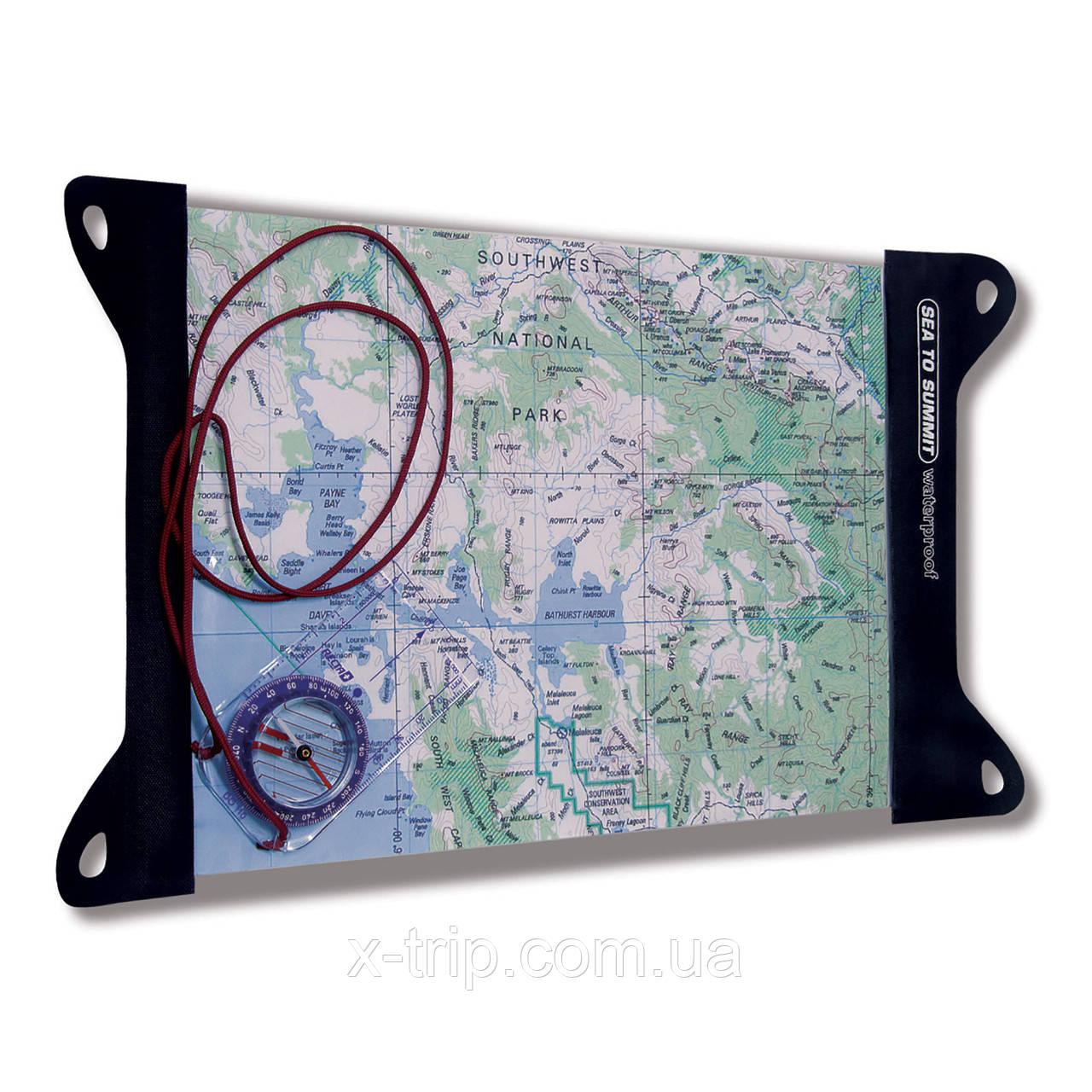 Туристическая карта и компас, чехлы для карты