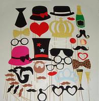 Фотобутафория  45 предметов ! Наборы усов и губ на палочке фото фотографии
