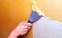 Зачистка старой краски стен