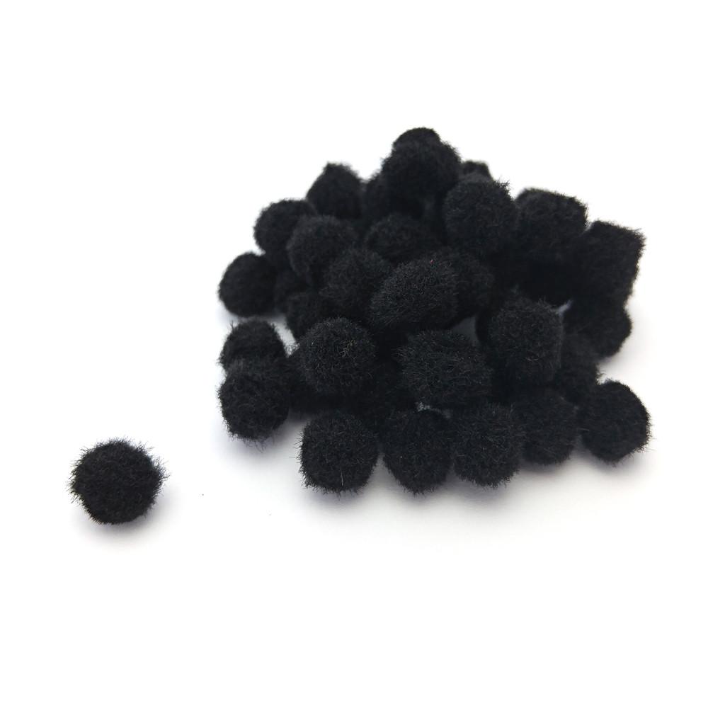 Помпон ЧОРНИЙ, 1.8 см, 50 шт