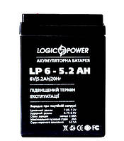 Аккумулятор свинцовый Logicpower 6V - 5, 2 Ah LP 652, 70x47х101