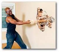 Демонтаж обшивки стен из гибсокартона