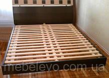 Кровать София 160 940х1672х2130мм венге темный + венге светлый   Мебель-Сервис, фото 3
