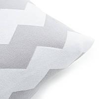 Подушка декоративная Ohaina Скандинавская коллекция 70х50 хлопок цвет молоко и сталь