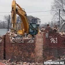Демонтаж кирпичных стен и конструкций