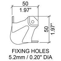 Угловая связка C1081z шаровая 49,5х49,5мм сталь 1,2мм черный. Штамп под профиль 31х31мм. Для профиля с полкой 25х25, 30х30мм