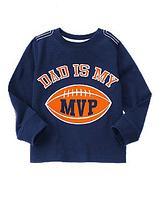 "Crazy 8 Реглан для мальчика ""Dad Is My MVP Football"""